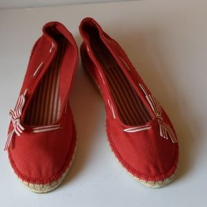Connie red espadrille ginger flats-sz 8M